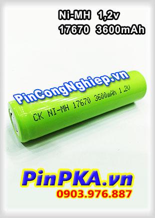Pin Sạc Công Nghiệp-Pin Cell 1,2v Ni-MH 17670 3600mAh