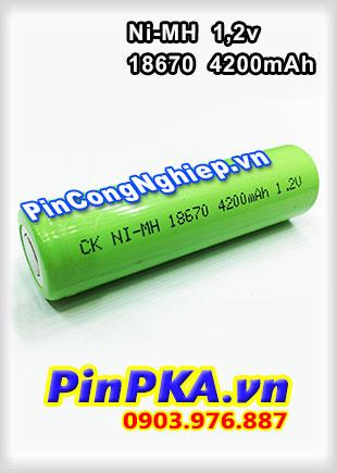 Pin Sạc Công Nghiệp-Pin Cell 1,2v Ni-MH 18670 4200mAh