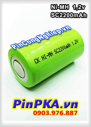 Pin Sạc Công Nghiệp-Pin Cell 1,2v Ni-MH SC2200mAh