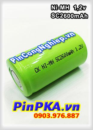 Pin Sạc Công Nghiệp-Pin Cell 1,2v Ni-MH SC2600mAh