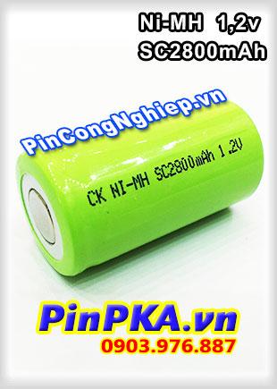 Pin Sạc Công Nghiệp-Pin Cell 1,2v Ni-MH SC2800mAh