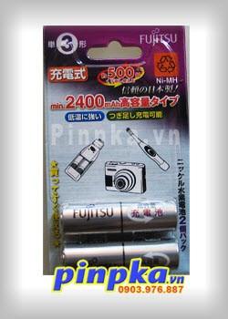 Pin sạc tiểu AA Fujitsu 2400mAh HR-3UTHA/2B (Vỉ 2 viên)