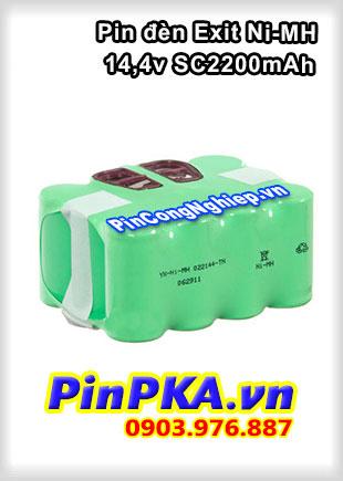 Pin Đèn Exit Ni-MH 14,4v SC2200mAh