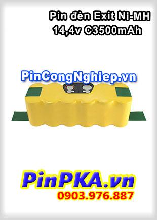 Pin Đèn Exit Ni-MH 14,4v C3500mAh