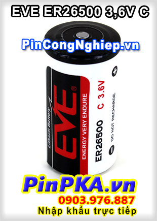 Pin Lithium EVE ER26500 8500mAh 3,6V