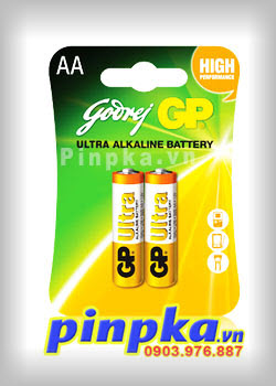 Pin Alkaline AA 1,5V GP Ultra GP15AU-2U2