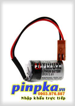 Pin Nuôi Nguồn PLC-CNC Lithium 3,6V Toshiba ER3V 1/2AA 1000mAh