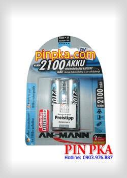 Pin sạc tiểu AA Ansmann 2100mAh-5030992 (Vỉ 2 viên)