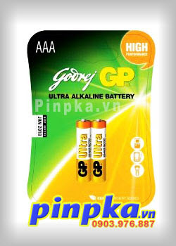 Pin Alkaline AAA 1,5V GP Ultra Battery GP24AU-2U2