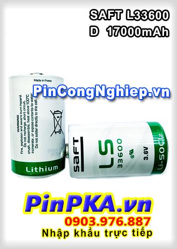Pin Nuôi Nguồn PLC-CNC Lithium 3,6V SAFT LS33600 D 17000mAh