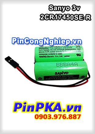Pin Lithium Sanyo 2CR17450SE-R 3V