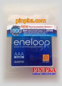 Pin sạc cao cấp Eneloop AAA 800mAh HR-4UTGB2TM