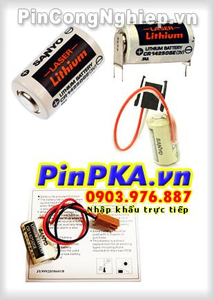 Pin Nuôi Nguồn PLC-CNC Lithium 3V Sanyo CR14250SE 1/2AA 850mAh