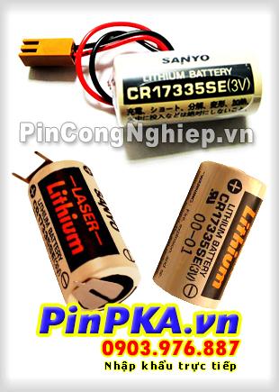 Pin Nuôi Nguồn PLC-CNC Lithium 3V Sanyo CR17335SE 2/3A 1800mAh