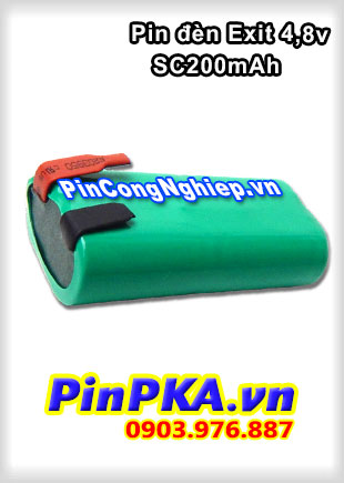Pin Đèn Exit 4,8V SC 2000mAh