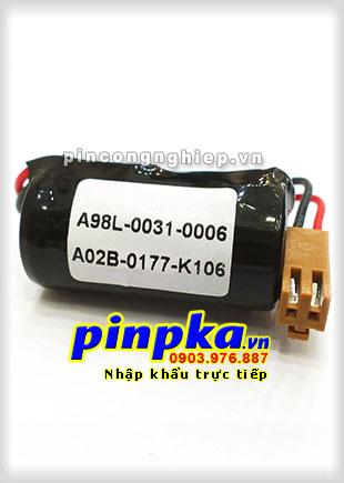 Pin Lithium PLC-CNC Fanuc A02B-0177-K106/ A98L-0031-0006 1500mAh 3V