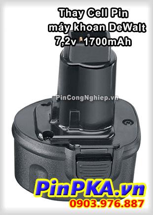 Thay Cell Pin Máy Khoan DeWalt 7,2v 1700mAh