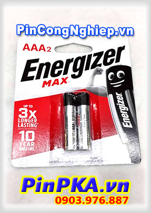 Pin đũa AAA Energizer Max Alkaline Power Seal E92/BP2 LR03
