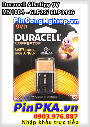 Pin Alkaline 9V Duracell MN1604 - 6LF22