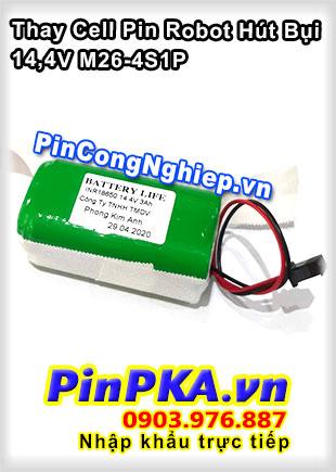 Thay Cell Pin Robot Hút Bụi M26-4S1P 14,4V