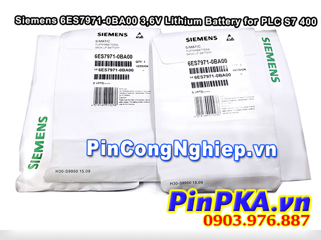Pin Siemens 6ES7971-0BA00 2400mAh 3,6V