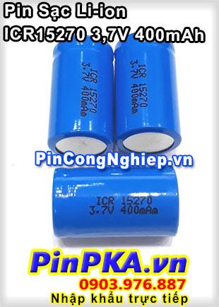 Pin Sạc Li-ion ICR15270 400mAh 3,7V