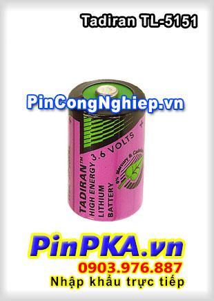 Pin Nuôi Nguồn PLC-CNC Lithium 3,6V Tadiran TL-5151 1/2AA 850mAh