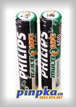 Pin sạc AAA Philips Ni-MH 1.2v 600mAh AAA/1.2/600MAH