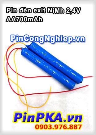 Pin đèn Exit NiMh 2.4V AA700mAh
