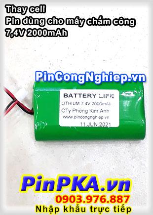 Thay Cell Pin Dùng Cho Máy Chấm Công 7,4V 2000mAh