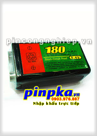 Pin sạc 9v Ni-MH 10H 8,4v 180mAh