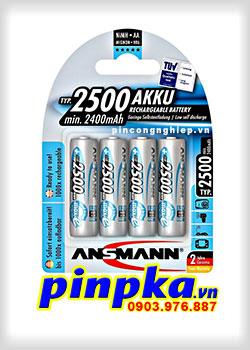 Pin sạc tiểu AA ANSMANN 2500mAh AKKU (vỉ 4 viên)
