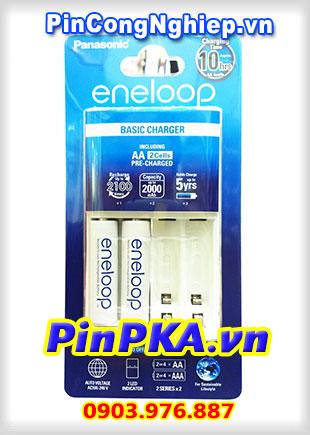 Bộ Sạc Pin KJ51MCC20M / BQ-CC51E Panasonic Eneloop AA,AAA kèm 2 pin AA BK-3MCCE 1900mAh