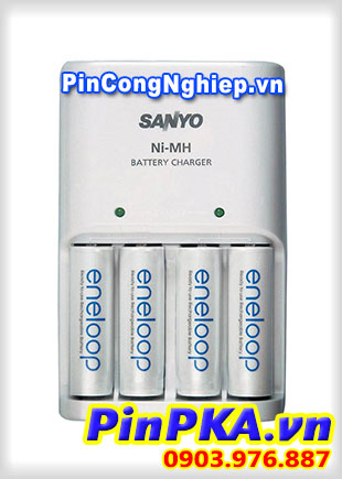 Bộ sạc Pin AA AAA Sanyo MQN04-E4-4UTG