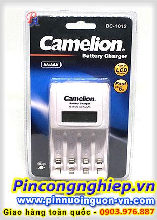 Bộ Sạc Pin AA,AAA Camelion BC-1012| Sạc được 4 pin, sạc nhanh, tự ngắt, màn hình LCD