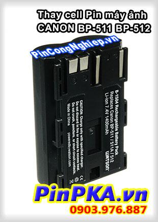 Thay cell Pin Máy Chụp Ảnh CANON BP-511 BP-512 7,4v 1400mAh