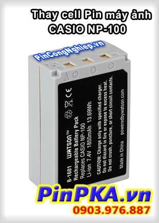 Thay cell Pin Máy Chụp Ảnh CASIO NP-100 7,4v 1850mAh