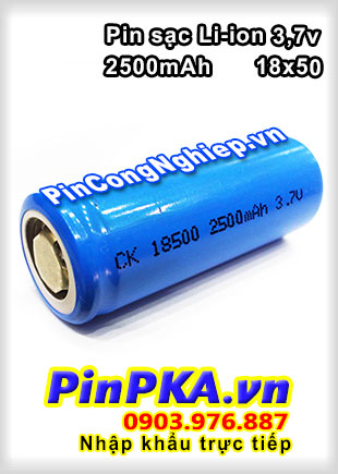 Pin Sạc Li-ion 3,7v CK 18500 2500mAh