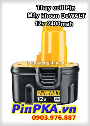 Thay Cell Pin Máy Khoan DeWalt 12v 2400mAh