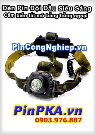 Đèn Pin Đội Đầu Siêu Sáng Cảm biến tắt mở bằng hồng ngoại