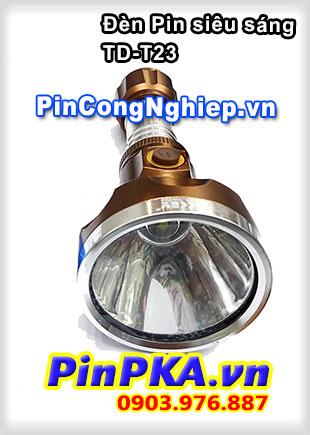 Đèn Pin Siêu Sáng TD-T23 Dùng Pin Sạc 18650 3,7v