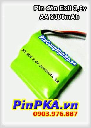 Pin Đèn Exit 3,6V AA 2000mAh