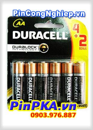 Pin Alkaline AA 1,5V Duracell MN1500 - LR6 (vỉ 6)