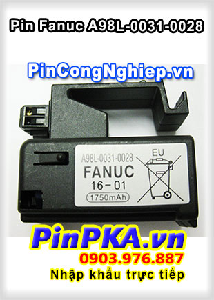 Pin Lithium PLC-CNC GE Fanuc A98L-0031-0028 1750mAh 3V