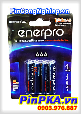 Pin sạc tiểu Enerpro 1,2v AAA 800mAh (vỉ 4)