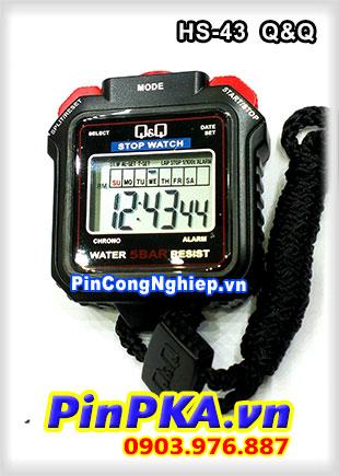 Đồng hồ bấm giây StopWatch Q&Q 1 Lap HS-43