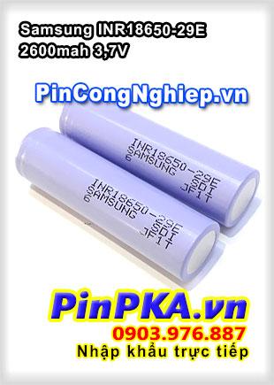 Pin Sạc Công Nghiệp Li-ion 3,7V Samsung INR18650-29E 2600mAh