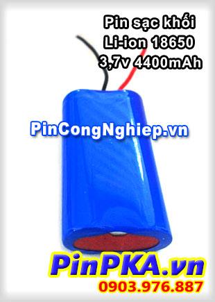 Pin sạc khối Li-ion 3,7v 4400mAh-180-188-198