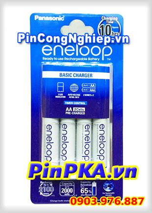 Bộ Sạc Pin Panasonic Eneloop AA,AAA (kèm 4 pin AA 1900mAh) K-KJ18MCC20