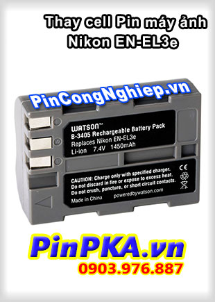 Thay cell Pin Máy Chụp Ảnh NIKON EN-EL3e 7,4v 1450mAh